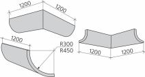 Коэффициент абсорбции изогнутой панели