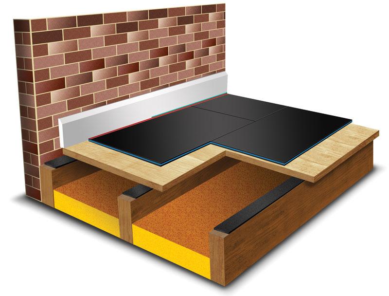 Звукоизоляционный материал Fonostop Duo в полу (схема)